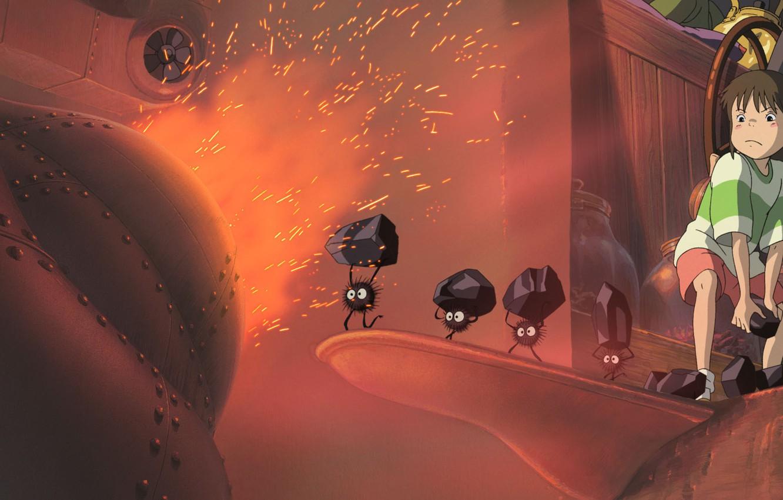 Photo wallpaper anime, girl, spirited away, spirited away, Hayao Miyazaki, ogino chihiro, Chihiro, embers