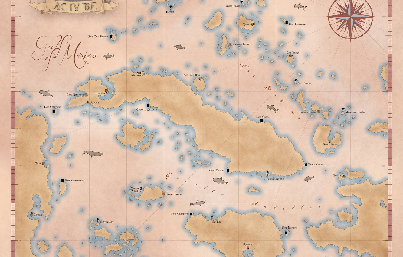 Wallpaper Map Map Black Flag Assassin S Creed 4 Images For