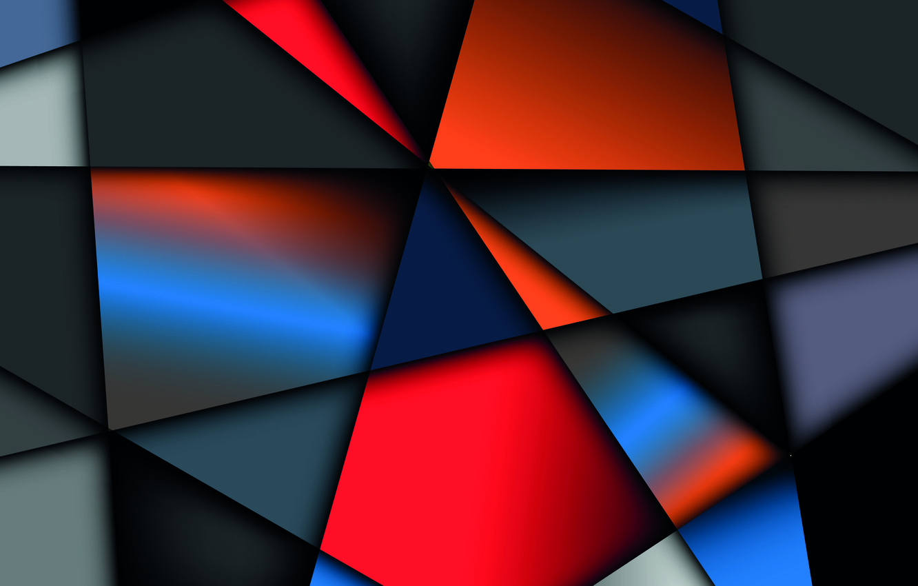Photo wallpaper vector, colorful, background, geometry, shapes