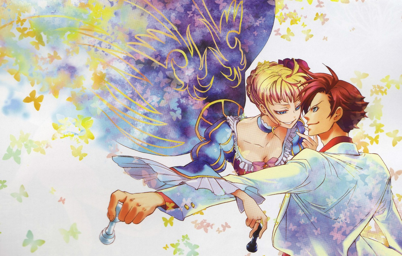 Wallpaper Butterfly Smile Chess Neckline Two Umineko No Naku Koro Ni When The Seagulls Cry Beatrice Battler Ushiromiya Images For Desktop Section Prochee Download