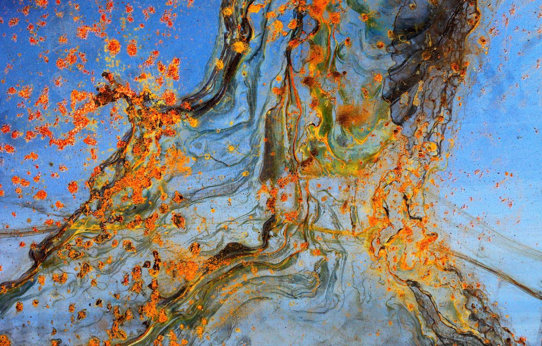 Photo wallpaper metal, paint, rust