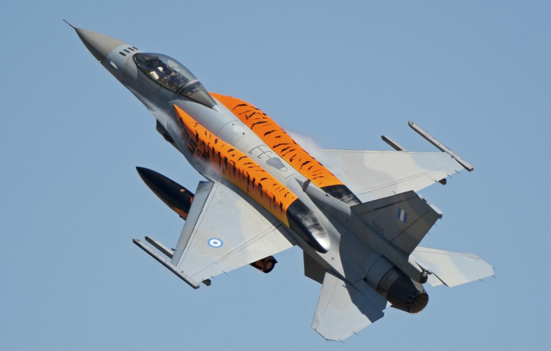 Photo wallpaper fighter, Fighting Falcon, F-16C, Fighting Falcon