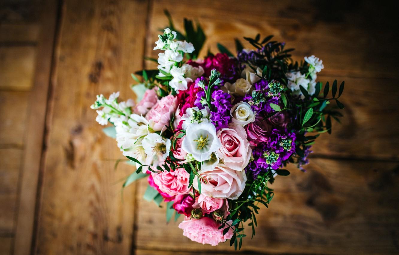 Photo wallpaper flowers, bouquet, petals