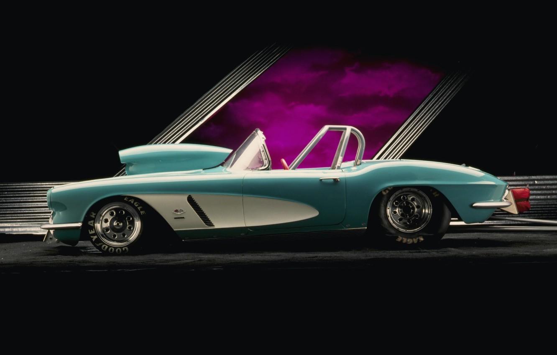 Photo wallpaper Corvette, Chevrolet, Chevrolet, plug, drives, Corvette, Drag, slicks
