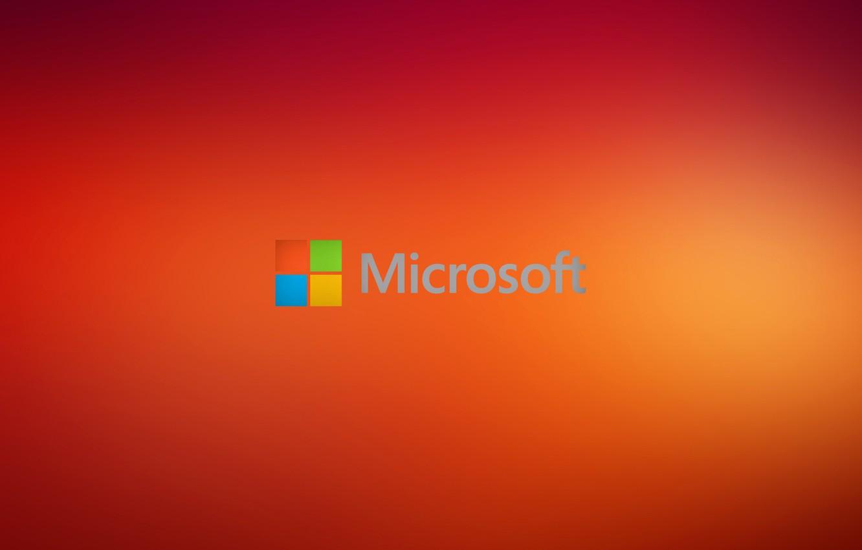 Photo wallpaper windows, microsoft, orange, hi-tech