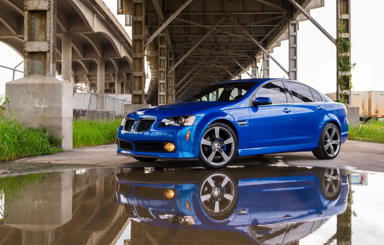 Photo wallpaper Blue, bridge, Pontiac