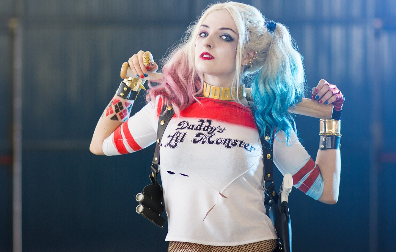 Photo wallpaper Harley Quinn, Harley Quinn, Cosplay, Warner Bros, Cosplay, Suicide Squad, the villain, Suicide squad