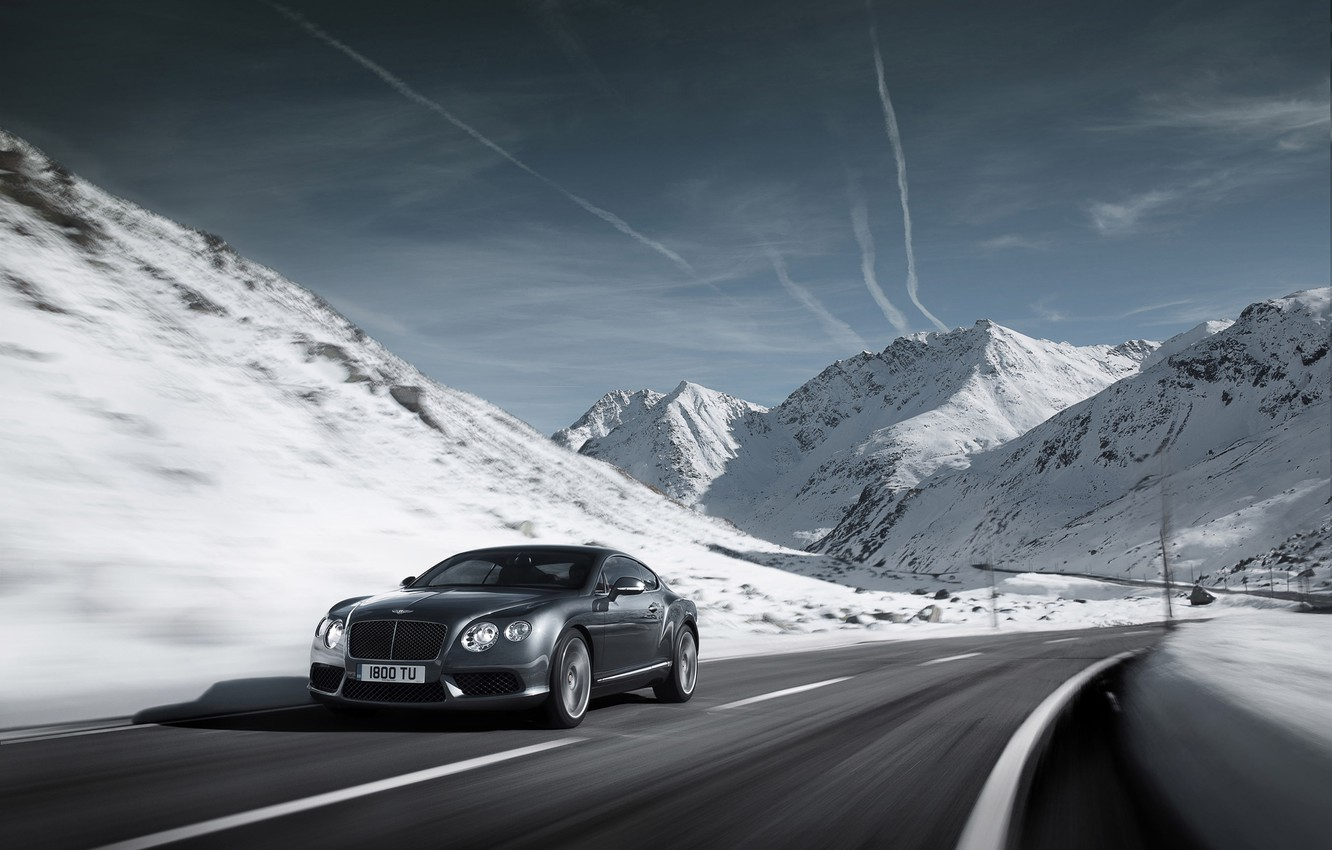 Photo wallpaper road, car, machine, the sky, clouds, snow, mountains, nature, speed, road, sky, nature, mountains, clouds, …