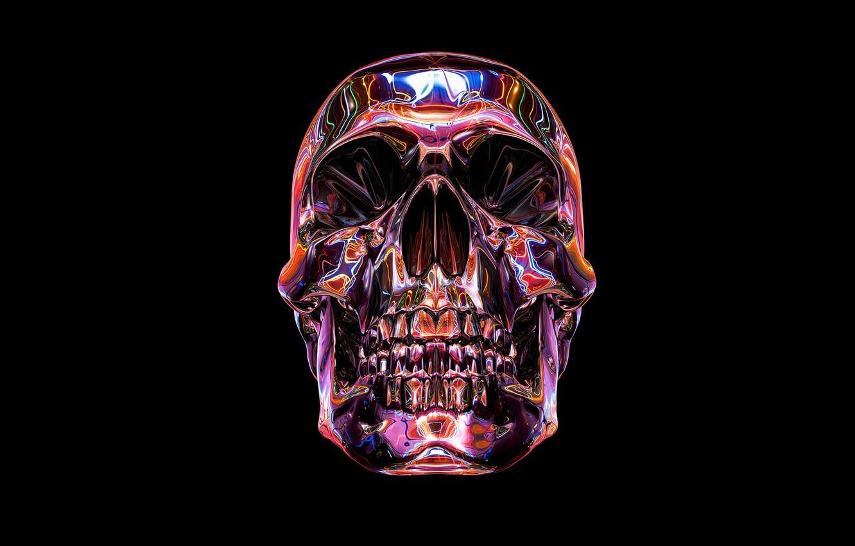 Photo wallpaper death, color, skull, sake