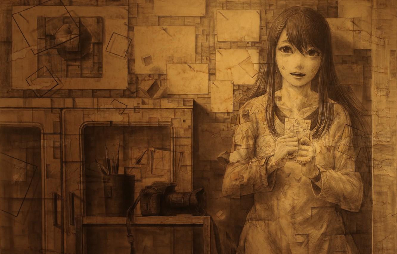 Photo wallpaper girl, anime, art, panache