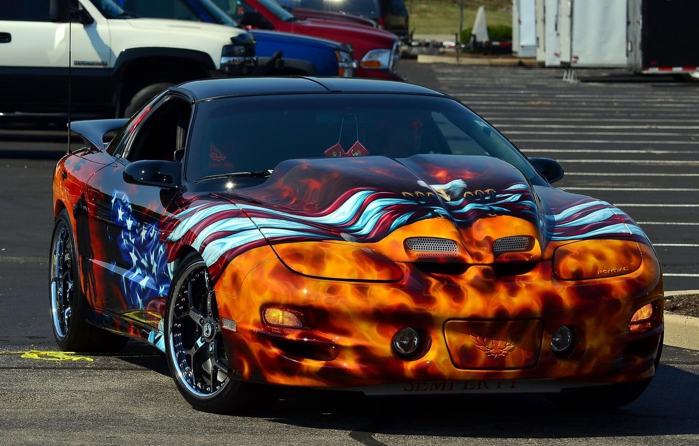 Photo wallpaper tuning, airbrushing, sports car, car, drives, Pontiac Trans Am, Pontiac TRANS AM
