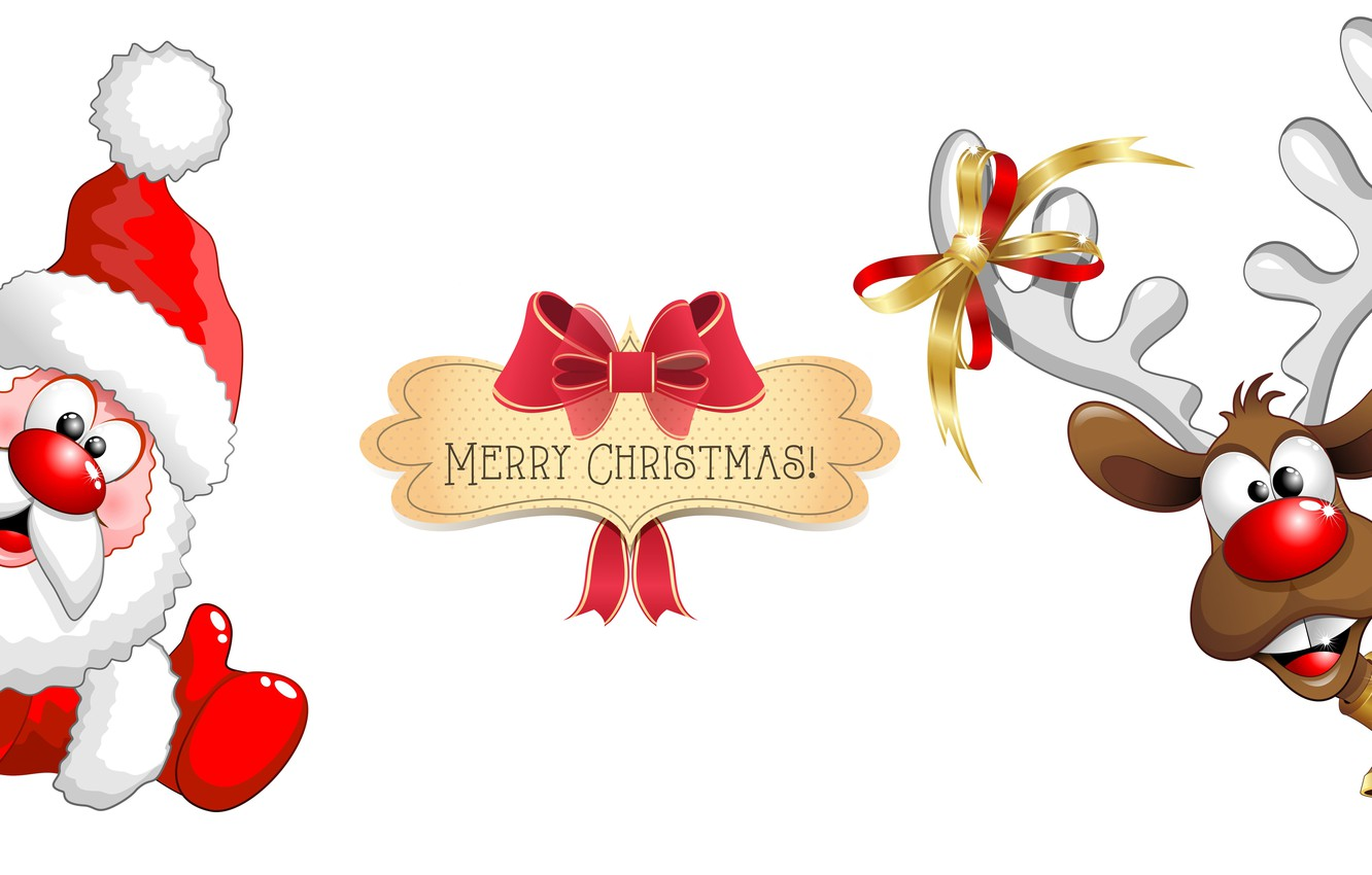 Funny Merry Christmas.Wallpaper New Year Santa Claus Funny Merry Christmas