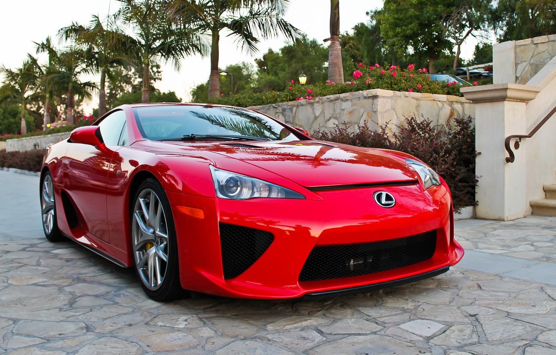 Photo wallpaper Lexus, red, lfa