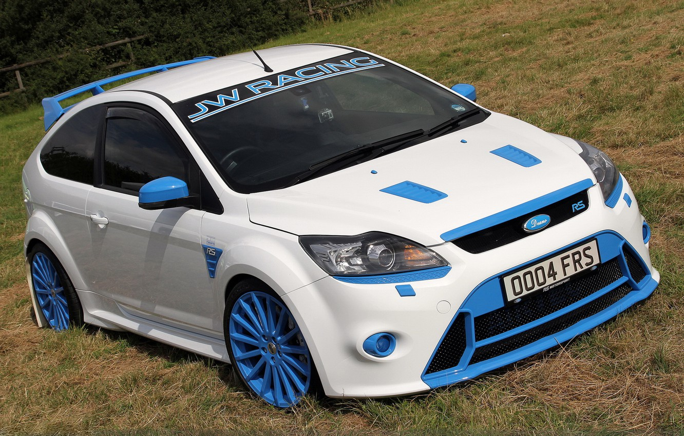 Photo wallpaper white, jw racing, ford. focus