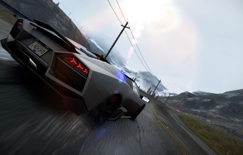 Wallpaper Lamborghini Reventon Drift 2010 Need For Speed Hot