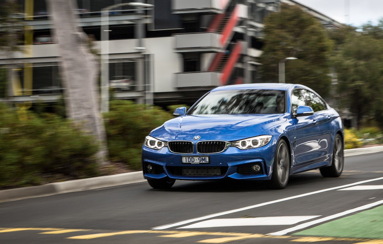 Photo wallpaper road, blue, BMW, BMW, car, 435i, Sport Package, Gran Coupe M