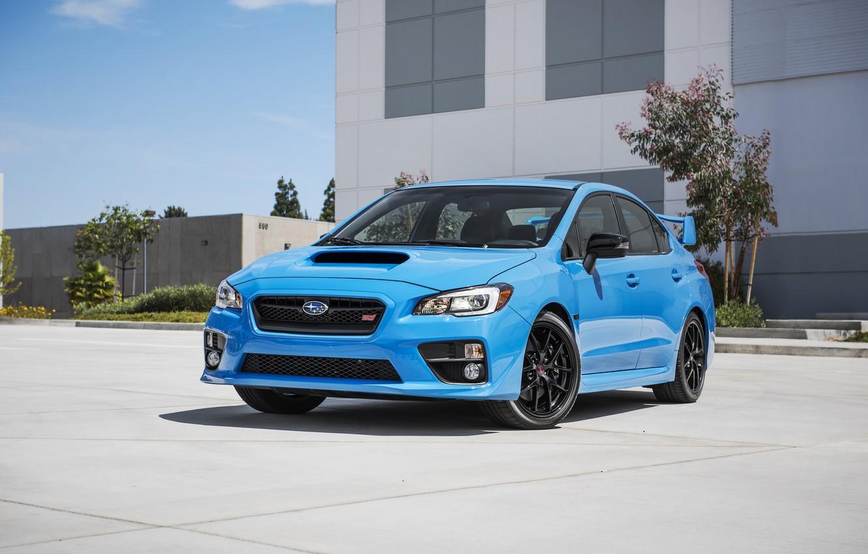 Photo wallpaper Subaru, WRX, Blue, STI, Subaru