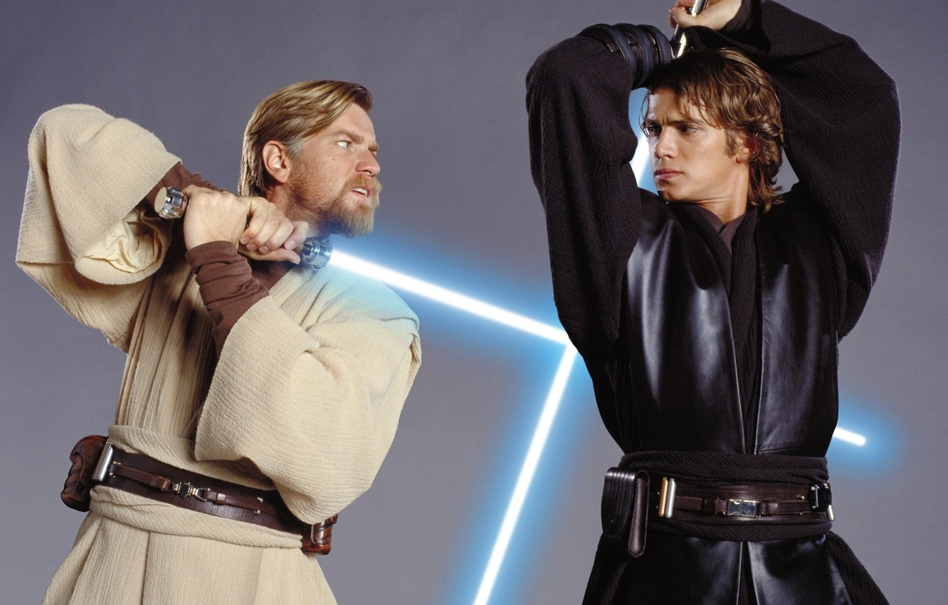 Wallpaper Star Wars The Battle Obi Wan And Anakin Images For