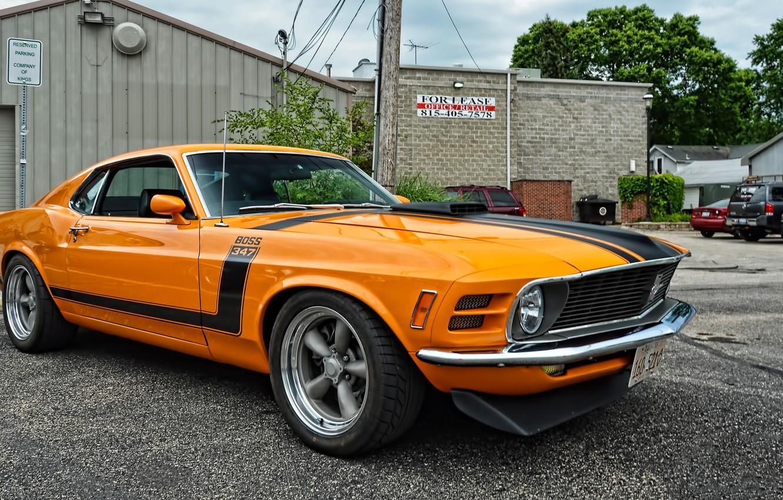Photo wallpaper Mustang, Ford, Boss, 347, `1970