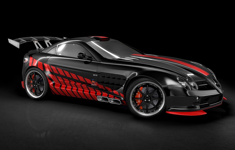 Photo wallpaper car, Mercedes-Benz, German, Mercedes, supercar, Germany, McLaren SLR, sports, bold design, HKS, beauty on wheels, …