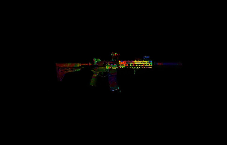Photo wallpaper color, weapons, assault rifle