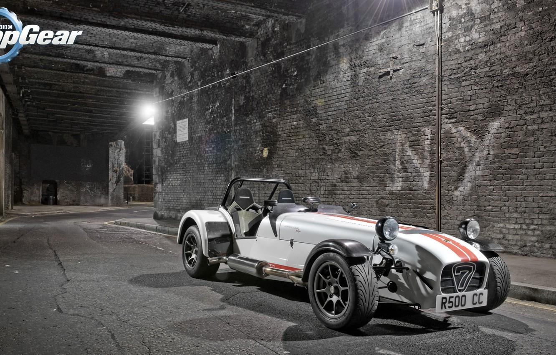 Photo wallpaper Top Gear, supercar, Seven, the front, the best TV show, top gear, Caterham, Top Gear, …