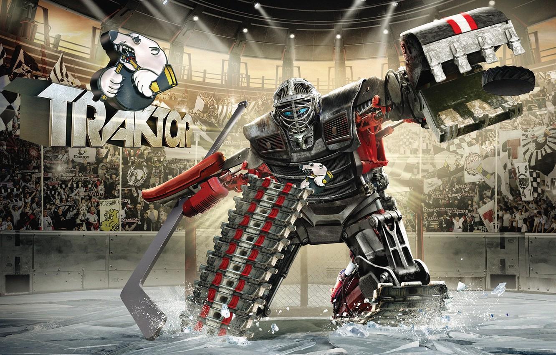 Photo wallpaper steel, club, tractor, alive, KHL, hockey