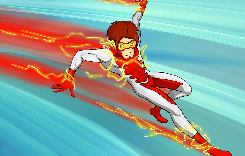 Wallpaper Fiction Art Runner Dc Comics Young Justice Impulse Bart Allen Images For Desktop Section Fantastika Download