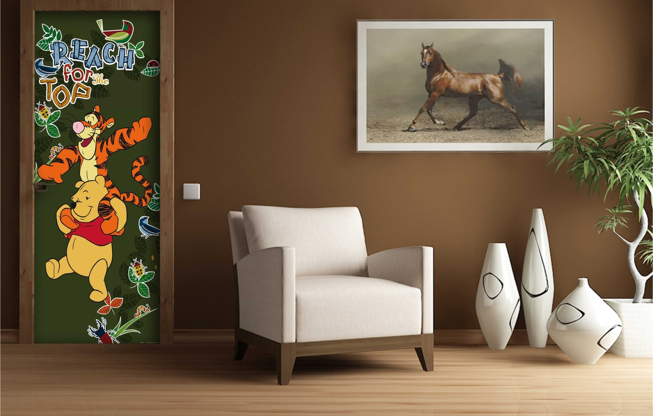 Photo wallpaper design, style, room, interior, picture, chair, vases