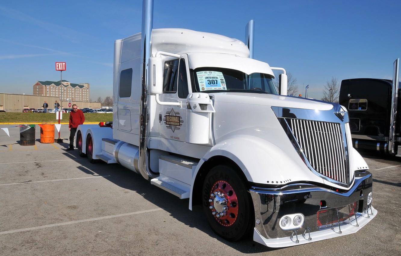 Photo wallpaper white, truck, international, lonestar