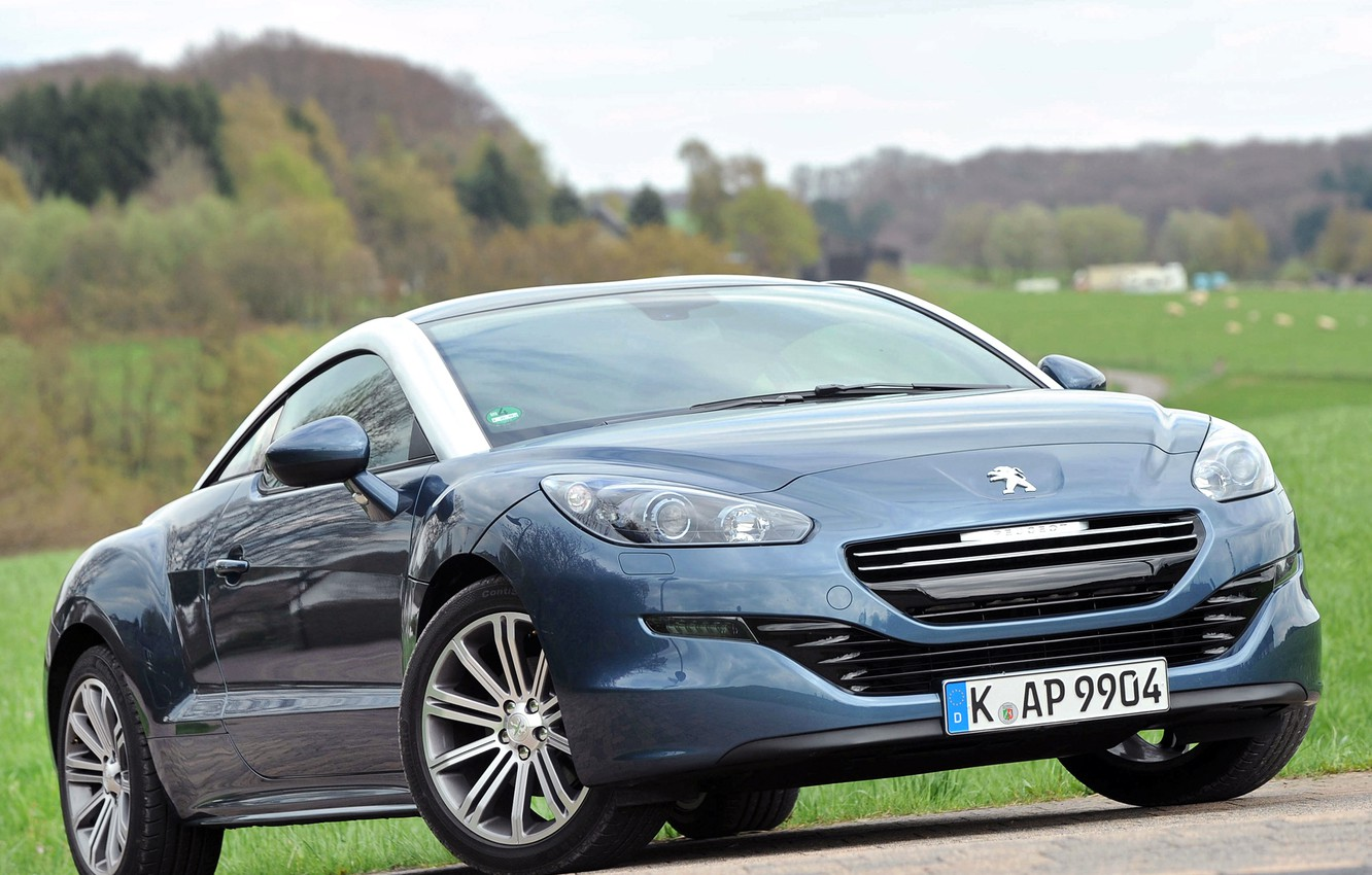 Photo wallpaper lights, Peugeot, RCZ, car, Peugeot, the front