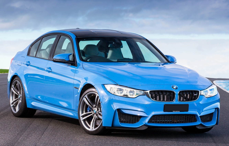 Photo wallpaper Color, BMW, Machine, BMW, Blue, Car, Car, Blue, 2014, F80