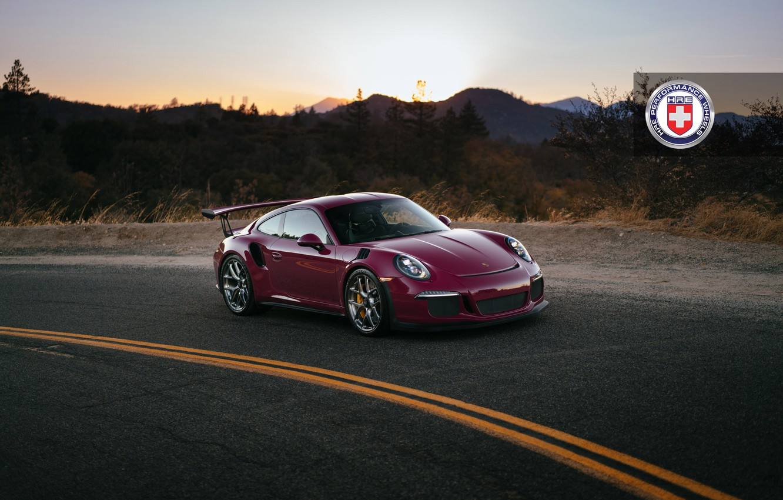 Photo wallpaper 911, Porsche, Dark, GT3, Clear, HRE, Lightweight, With, RS, R101