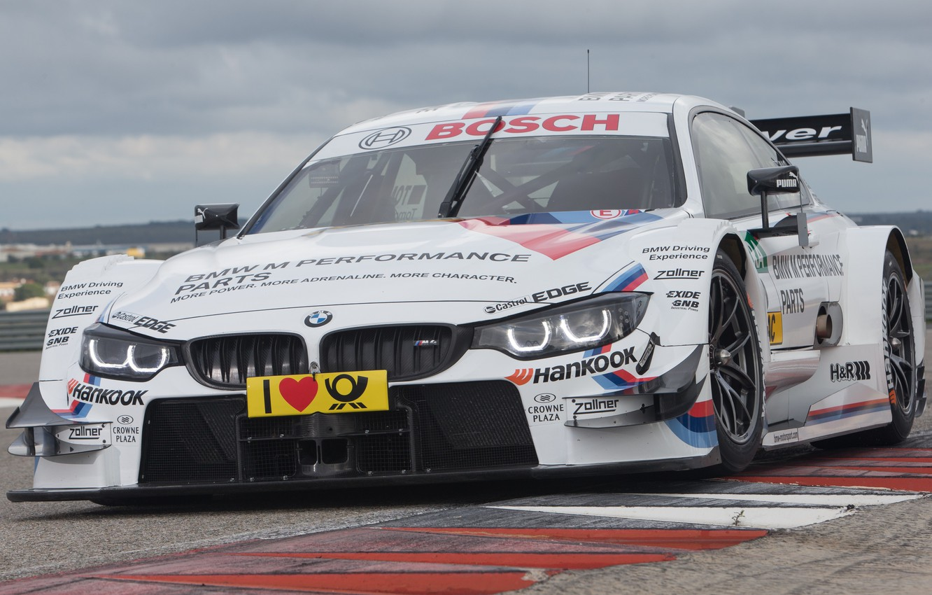 Photo wallpaper BMW, Race, Front, Day, DTM, Track