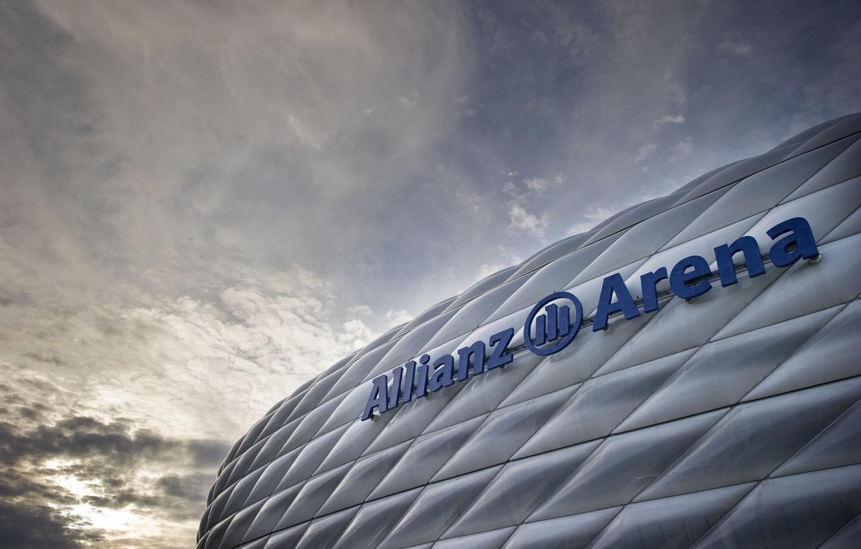Photo wallpaper Germany, Munich, Bayern, Germany, Munich, stadium, Stadium, Allianz Arena, Allianz Arena