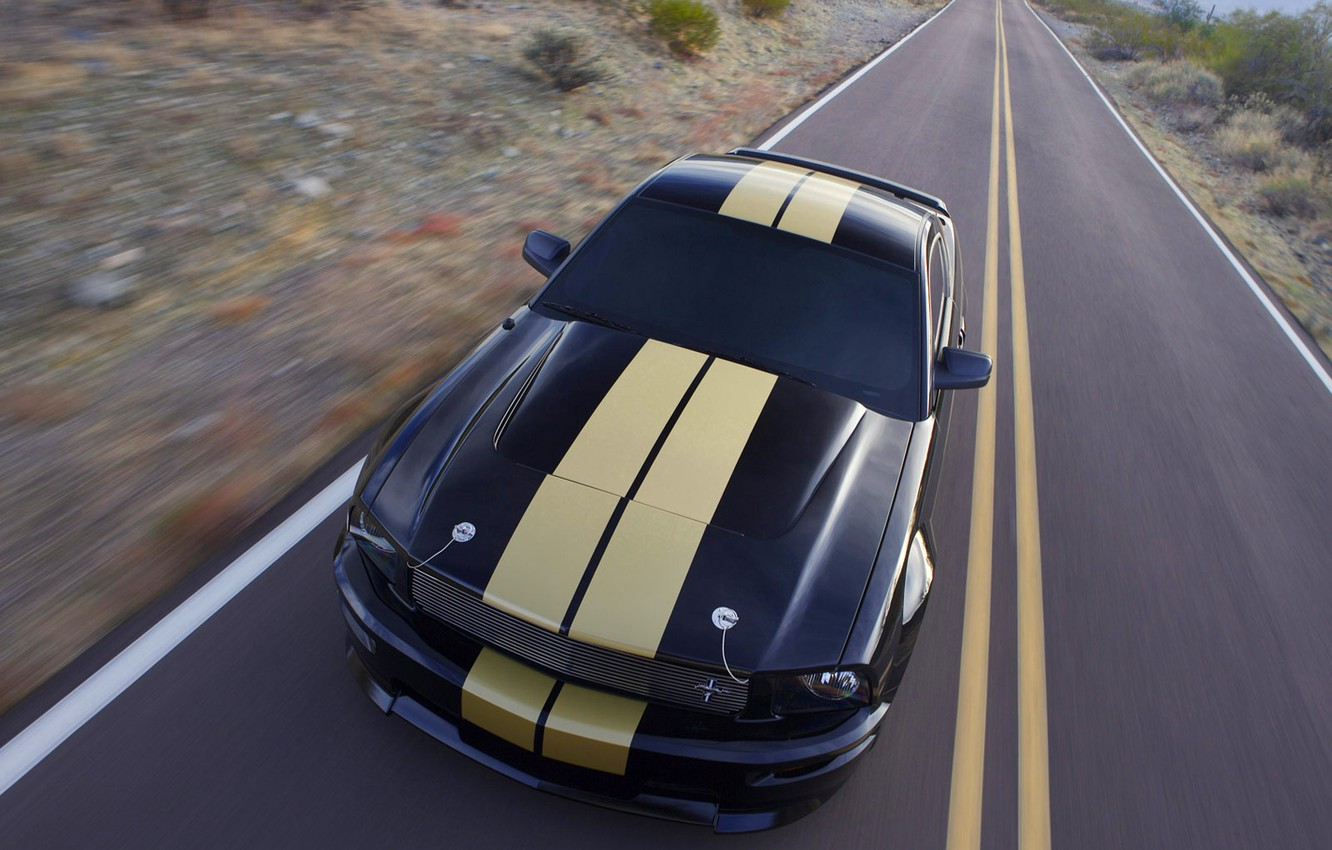 Photo wallpaper road, strip, ford, shelby gt-500