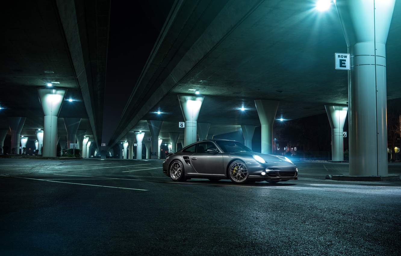 Photo wallpaper 911, Porsche, Forged, Turbo, Collection, Aristo, Ligth, Nigth