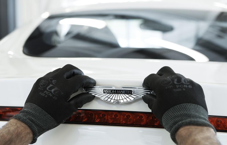 Photo wallpaper Aston Martin, Gloves, Logo, One-77, Exclusive