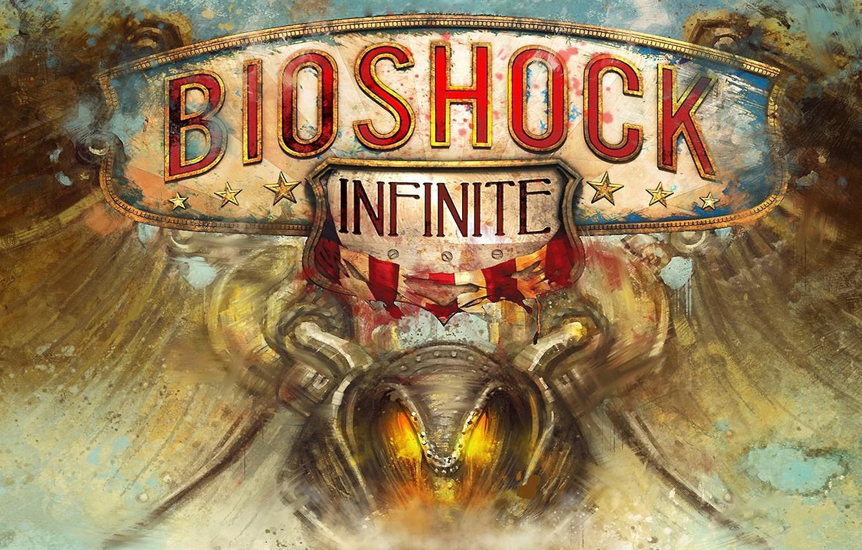 Photo wallpaper Logo, The inscription, Emblem, Logo, Bioshock, 2K Games, Infinite, Names, Irrational Games