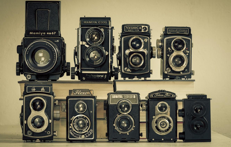 Photo wallpaper retro, model, classic, collection, cameras