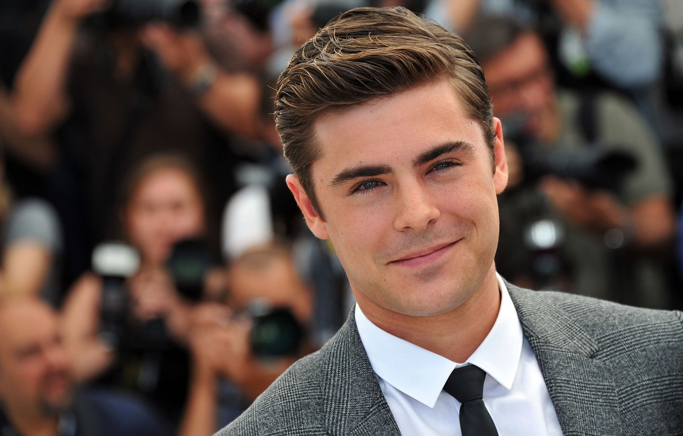 Photo wallpaper look, face, smile, hair, costume, tie, actor, male, shirt, guy, actor, Zac Efron, Zac Efron