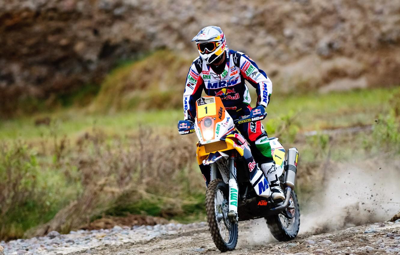 Photo wallpaper Sport, Speed, Race, Helmet, Bike, Motorcycle, Moto, Red Bull, Rally, Dakar, Dakar