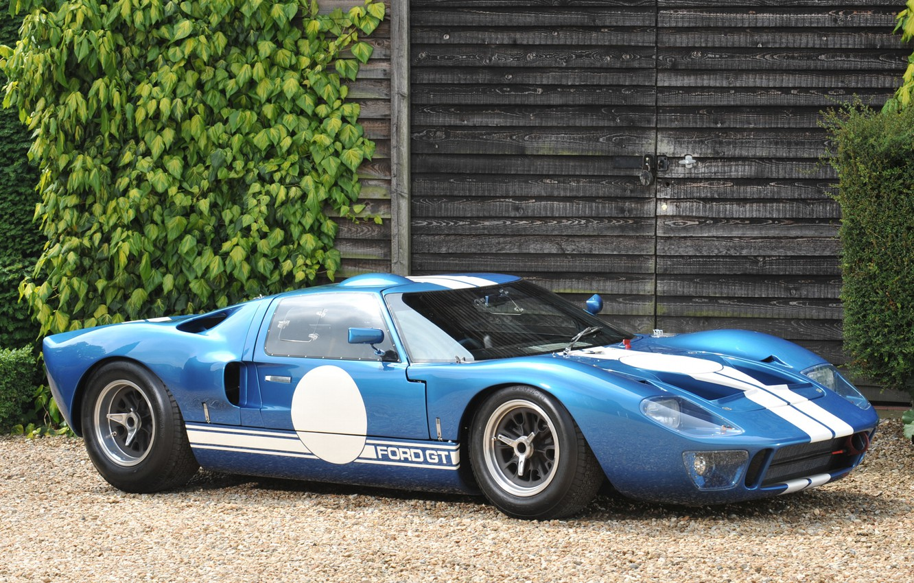 Photo wallpaper leaves, Ford, side view, building, ford gt, Dzhi ti