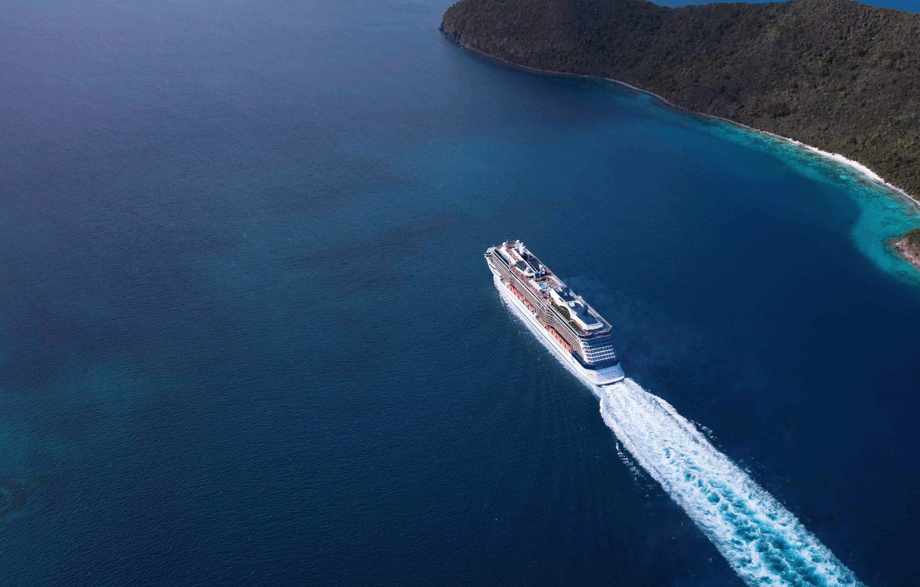 Photo wallpaper Water, Sea, Liner, The ship, The view from the top, On the go, Celebrity Equinox, …