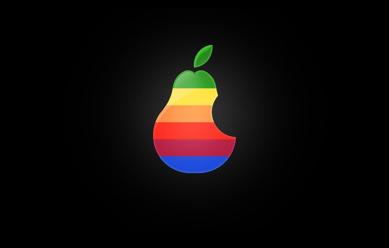 Photo wallpaper minimalism, logo, pear
