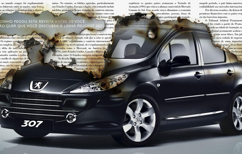 Photo wallpaper paper, Peugeot, 307