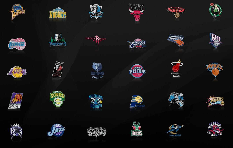 Photo wallpaper Logo, Jazz, NBA, Lakers, Rockets, Bulls, Nuggets, Magic, Mavericks, Hornets, Kings, Knicks, Golden State Warriors, …