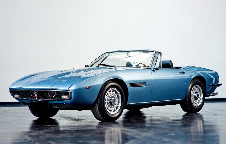Photo wallpaper Machine, 1969, Maserati, Car, Car, Blue, Spyder, Wallpapers, Beautiful, Wallpaper, Maserati Ghibli