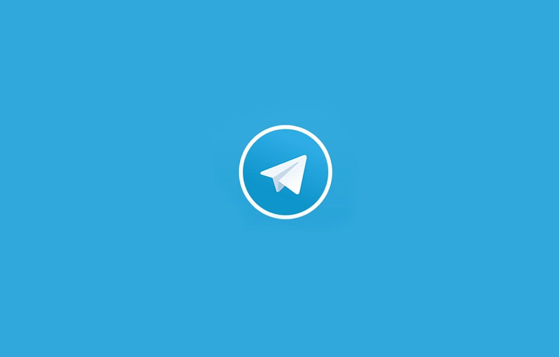 Photo wallpaper Telegram, application, messaging app