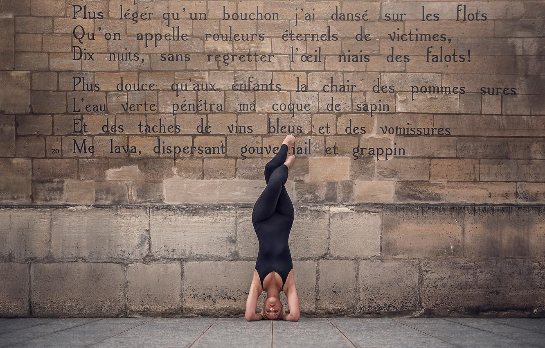 Photo wallpaper the city, wall, figure, ballerina, Marine Fauvet